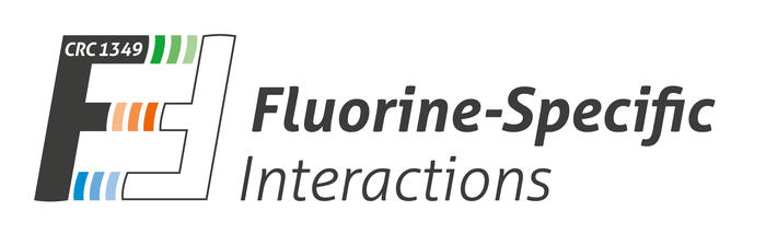 CRC 1349 Fluorine-Specific Interactions. Logo copyright bdesign.de 2019